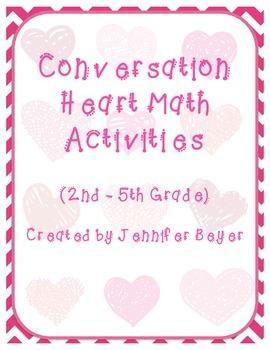 Valentine Conversation Heart Math Activity Pack