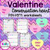 Valentine Heart Math: Patterns for Kindergarten and First grade