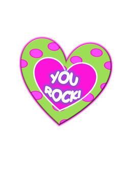 Valentine Conversation Hearts Clipart