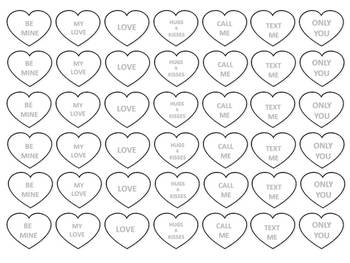 graphic relating to Printable Conversation Hearts called Valentine Interaction Hearts Clip Artwork Printables