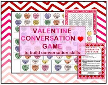 Valentine Conversation Hearts Game -- pragmatics, conv. sk