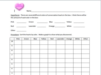 Valentine Conversation Hearts - Inquiry Lesson