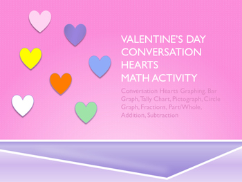 Valentine Conversation Hearts Math Graphing Activity Packet