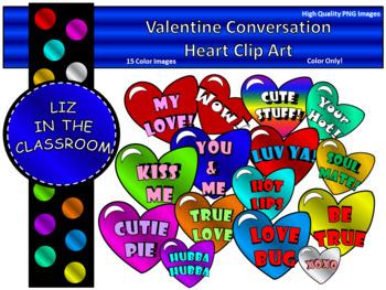 Valentine Conversational Hearts Clip art