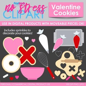 Valentine Cookie Baking Clip Art Digital Use Ok