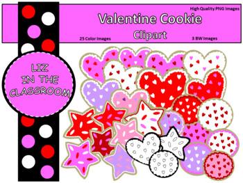 Valentine Cookie Clip Art