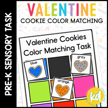 Valentine Cookie Color Match Folder Game for Early Childhood Special Education