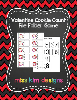 Valentine Cookie Count File Folder Game for Early Childhood Special Education