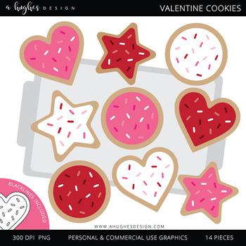 Valentine Cookies Clipart  {A Hughes Design}