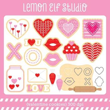 Valentine Cookies-Digital Clipart (LES.CL20)