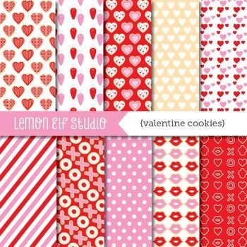 Valentine Cookies-Digital Paper (LES.DP20)