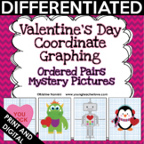 Valentine Coordinate Graphing Pictures Ordered Pairs {Mystery Pictures}