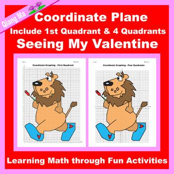 Valentine Coordinate Graphing Picture: Seeing My Valentine