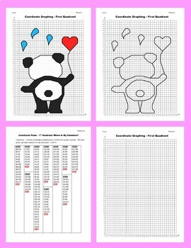Valentine Coordinate Graphing Picture: Where Is My Valentine?