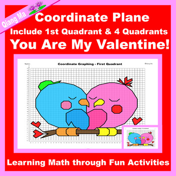 Valentine Coordinate Graphing Picture: You Are My Valentine!