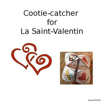Valentine Cootie Catcher - French- No Prep