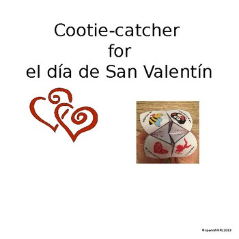 Valentine Cootie Catcher - Spanish- No Prep