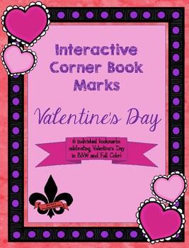 Valentine Corner Book Marks Freebie