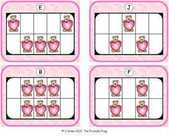 Valentine Count, Add & Subtract Bundle with 10 & 20 Frames {Subitizing}