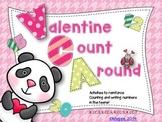 Valentine Count Around Game and Magic Writing Activities