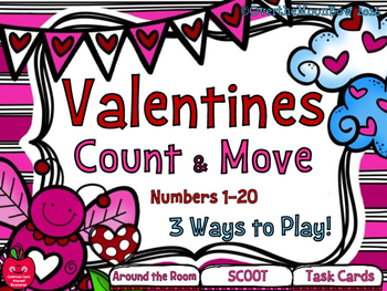 Valentines Count & Move Activity Pack