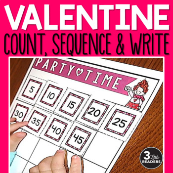 Valentine Count, Sequence & Write Number Boards {FREEBIE}