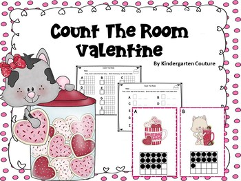 Valentine Count The Room -Ten Frames 1-20
