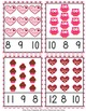 Valentine Count and Clip Cards Numbers 1-12