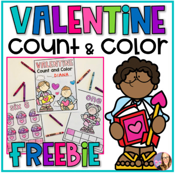 Valentine Count and Color 1-12 (Pre-K)