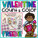 Valentine Count and Color (Pre-K)