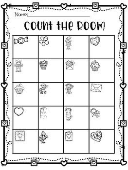 Valentine Count the Room 1-20