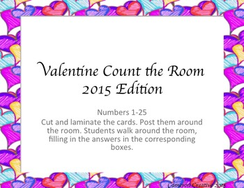 Valentine Count the Room 1-25