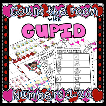 Valentine Count the Room Math