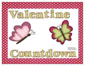 Valentine Countdown:  Valentine Brain Break Activities