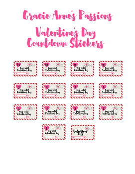 Valentine Countdown stickers