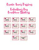 Valentine Countdown stickers