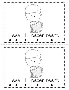 Valentine Counting 1 - 10 Reader (Numerals)