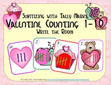 Valentine Counting 1-10 {Subitizing with Tally Marks}