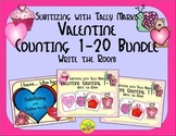 Valentine Counting 1-20 Bundle {Subitizing with Tally Marks}