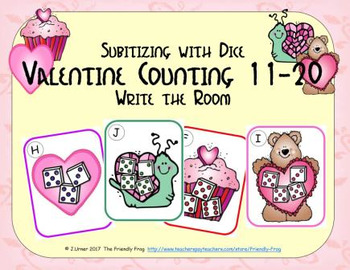 Valentine Counting 11-20 {Subitizing with Dice}