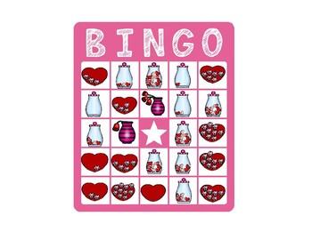 Valentine Counting Bingo