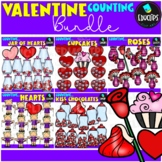 Valentine Counting Clip Art Big Bundle  {Educlips Clipart}