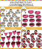Valentine Counting Clip Art Bundle