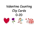 Valentine Counting Clip Cards