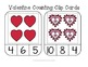 Valentine Counting Frame Clip Cards