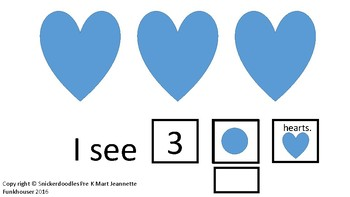 Valentine Counting Hearts: I see hearts counting to 10 Adapted Book
