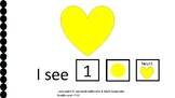 Valentine Counting Hearts: I see hearts counting to 10 Ada