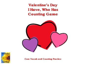 Valentine Counting I Have, Who Has Game