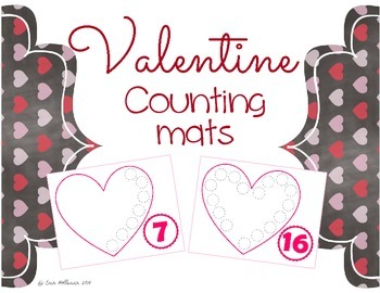 Valentine's Day Counting Mats 1-20