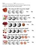 Valentine Counting Money Worksheet